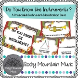 Do You Know the Instruments? Projectable Game