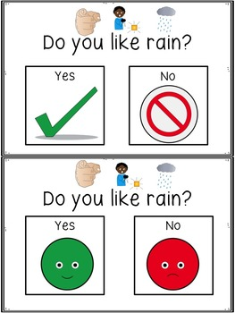 Rain Opinion Graphing and Writing Activities