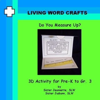 Do You Measure Up Word Wallet 3D for Pre-K to Gr. 3