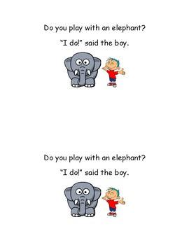Do You Play? Sight word Reader - Emergent Reader - Guided Reading - Fluency