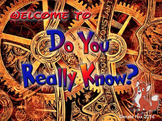 Do You Really Know Keynote Game