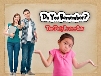 Do You Remember - Review Activity
