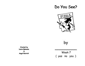 Do You See Fall?  Sight Word Book - Week 7