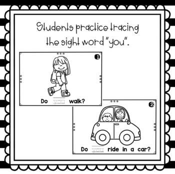 How Do You Get to School- emergent reader