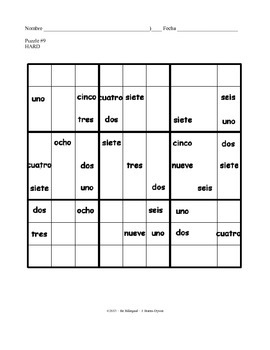 Do You Sudoku in Spanish - 12 Logic Problems using Written Spanish Numbers