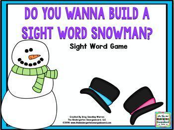 Snowman Sight Words