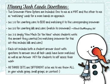Do You Wanna BUY A Snowman Money Pack- 70 Pages of Tiered Money Activities!