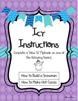 Do You Wanna Build a Snowman? {FREE How To Writing Flipbook}