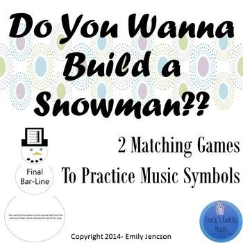 Do You Wanna Build a Snowman??  Music Symbol