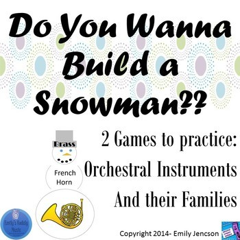 Do You Wanna Build a Snowman- Orchestral Instruments