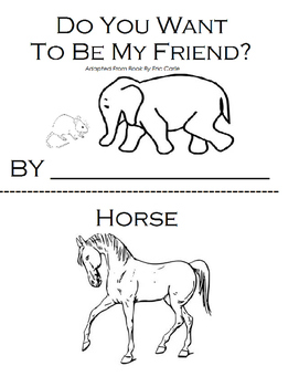 Do You Want To Be My Friend, Eric Carle (Retell) Workbook