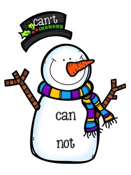 Do You Want To Build A Contraction? (Snowman Contraction Activity)