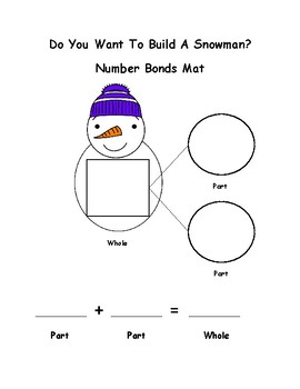 Do You Want To Build A Snowman Number Bonds Center