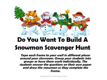 Do You Want To Build A Snowman? Scavenger Hunt