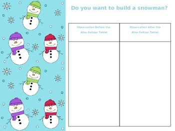 Do You Want To Build A Snowman? Science  Observation Activity