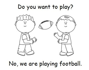 """Do, You, Want, To, Play, No, We, Are"" Sight Word Book"
