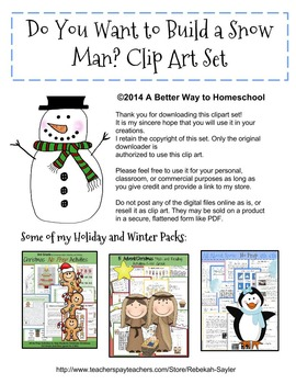 Snowman Clip Art: Build a Snowman Clip art