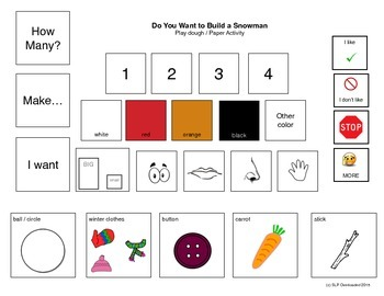 Visual Communication Boards: Do You Want to Build a Snowman?