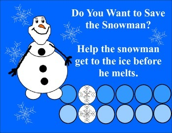 Do You Want to Save The Snowman?  Addition and Subtraction  Board Game
