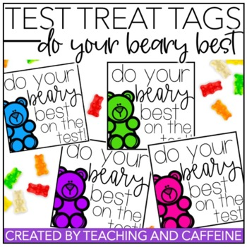 Do Your Beary Best {Testing Motivation Treat Tag}
