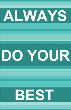 Do Your Best Modern Stripe Poster - 15 Color Combinations!