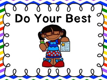 Do Your Best Poster -Freebie (Primary Chevron)