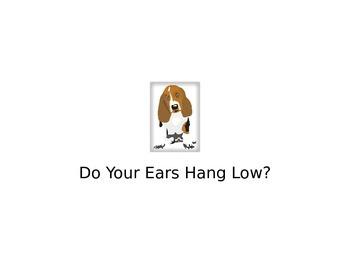 Do Your Ears Hang Low ?- Printable Book