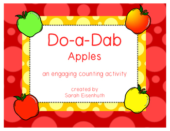 Do-a-Dab Apples: an engaging counting activity