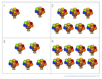 Do-a-Dab Turkeys: an engaging counting activity