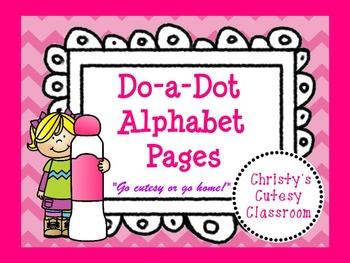 Do-a-Dot Alphabet Pages