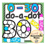 Do-a-Dot Basic Numbers 0 to 30 - Dot the Numbers and the Frame