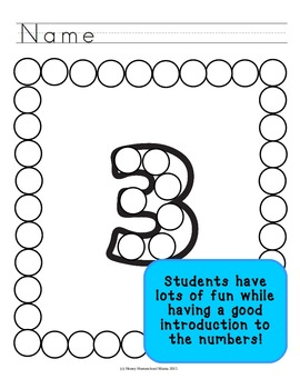 Do-a-Dot Basic Numbers 1 to 10 - Dot the Numbers and the Frame