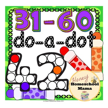 Do-a-Dot Basic Numbers 31-60 - Dot the Number and Frame