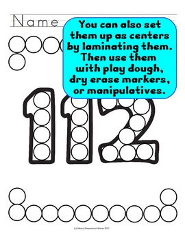 Do-a-Dot Basic Numbers Bundle 0 to 120 - 4 Sets Covering Numbers 0-120