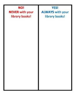 Do and Dont's with Library Books