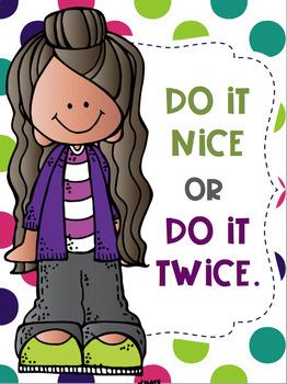 Do it Nice or Do it Twice FREEBIE Melonheadz Kids Theme