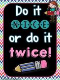 Do it nice poster {FREEBIE}