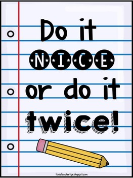 Do it nice poster {FREEBIE}