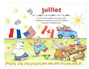 Do-it yourself Calendrier français - juillet, août, septembre