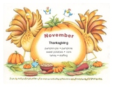 Do-it-yourself November Calendar and Weekly Planner - English