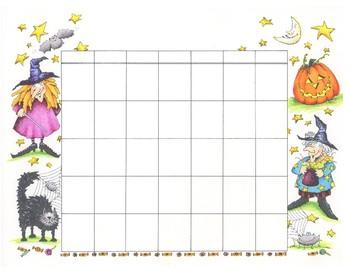 Do-it-yourself October Halloween Calendar - English