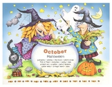 Do-it-yourself October Halloween Calendar - English