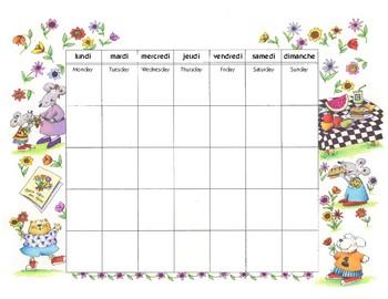 Do-it-yourself calendrier français - avril • mai • juin