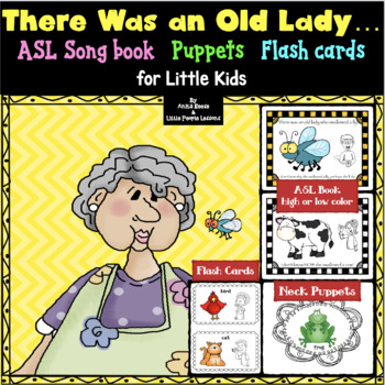 There Was an Old Lady Who Swallowed a Fly in ASL.puppets.sign language.preschool
