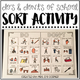 Do's and Don't's of School ( Sorting Activity for Special Education )