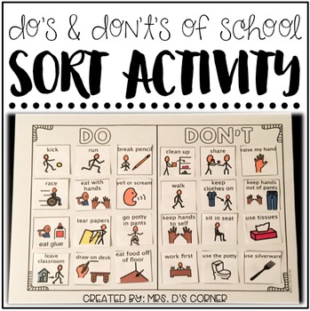 Do's and Don't's of School ( Sorting Activity for Special