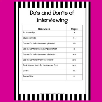 Do's and Don'ts of Interviewing