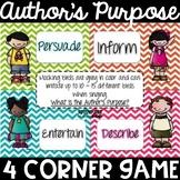 Author's Purpose 4 Corner Game