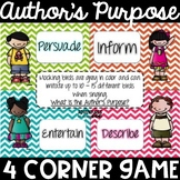 Author's Purpose 4 Corner Game
