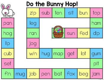 Bunny Hop CVC Word Game